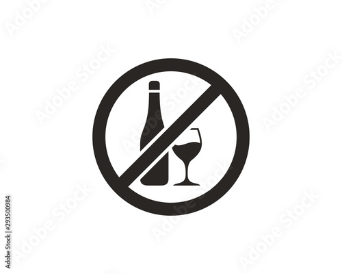 No alcohol sign icon Canvas Print