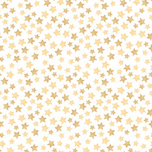 Seamless Watercolor Pattern With Gold Stars. Abstract Background.