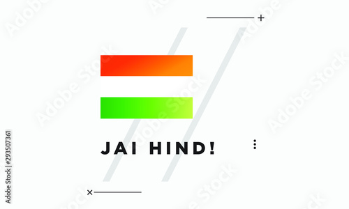 Jai Hind with Indian Flag Poster Wallpaper Mural