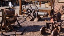 Wheels Of Old Locomotive
