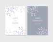 Vector layout of wedding invitation with flowers