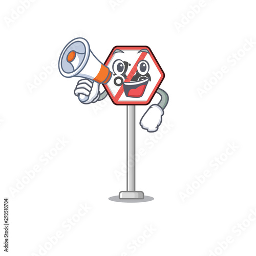 With phone no motorcycles mascot isolated with cartoon Wallpaper Mural
