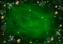 Green Christmas Background Wit...