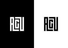 Initial Letter ACU Logo Templa...