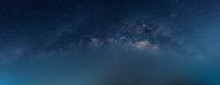 Panorama Blue Night Sky Milky ...