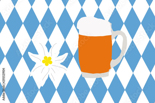 Oktoberfest, O` zapft is, wir feiern Oktoberfest mit leckeren Bier Canvas Print