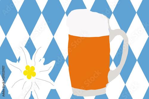 Oktoberfest, O` zapftz is, wir feiern Oktoberfest mit leckeren Bier Wallpaper Mural