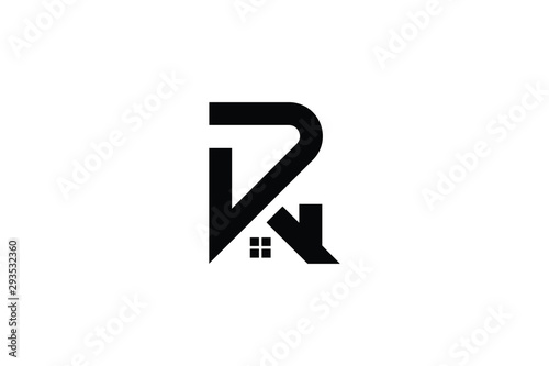 Letter R P PR RP in vector for Real Estate , Property and Construction Logo design for business corporate sign Canvas Print
