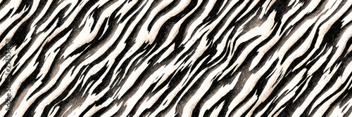 Stripes zebra- seamless diagonal line pattern - 293534158