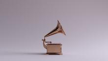 Bronze Vintage Gramophone Righ...