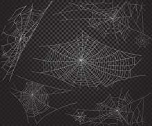 Halloween Net Ans Spiders Silhouettes