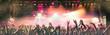 Leinwanddruck Bild - Feierende Menschen auf einem Konzert
