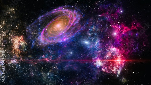 Obraz na plátně  galaxy a system of millions or billions of stars, together with gas and dust, he