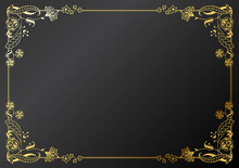 Calligraphic Frame And Page Decoration. Vector Illustration