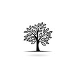 Leinwanddruck Bild - Tree icon isolated on white background