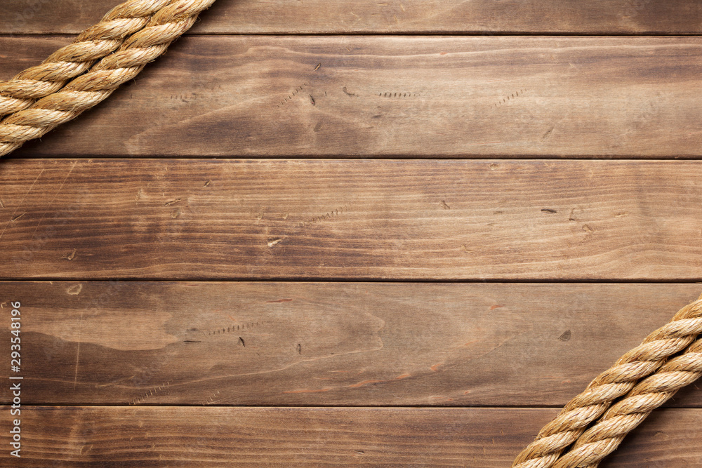 Fototapety, obrazy: ship rope at wooden background texture