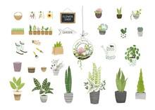 Big Garden Set For Floral Desi...