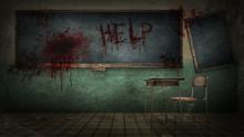 Horror And Creepy Classroom In...