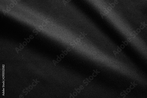 Fototapeta Abstract black fabric cloth texture background obraz