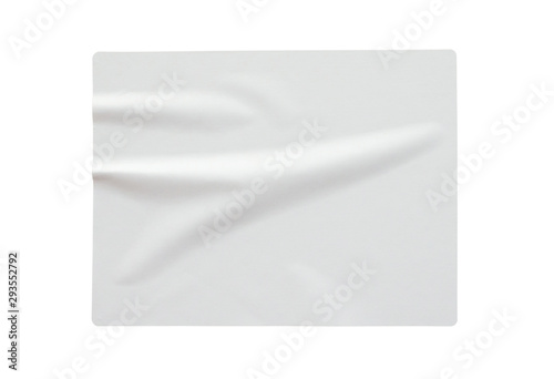 Poster Asia Country Paper sticker label isolated on white background