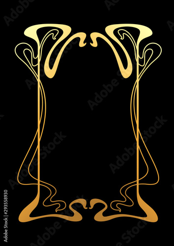 Frame with Art Nouveau ornament. Wall mural