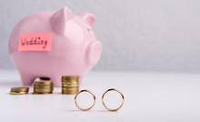 Two Wedding Rings On Backgroun...