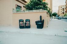Abandoned Furniture In The Streets Of Marrakesh