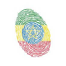 Fingerprint Vector Colored Wit...