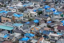 台風被害を受けた瓦屋...