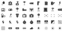 Photo Camera Silhouette Icon. ...
