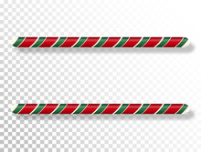 Candy Cane Border Isolated On ...