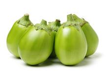 Ripe Eggplant Isolated On A White Background