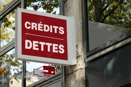Banque, concept de crédits et dettes Wallpaper Mural
