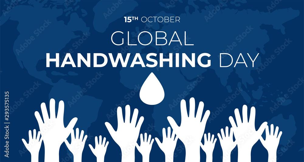 Fototapeta Global Handwashing Day Background Illustration