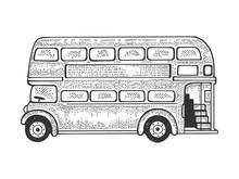 London Double Decker Bus Sketc...