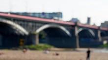 Blurred Background Of Bridge A...