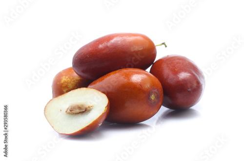 Fotografie, Obraz Jujube fruits close up on white