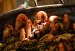 Paella mit viel Meeresfrüchten