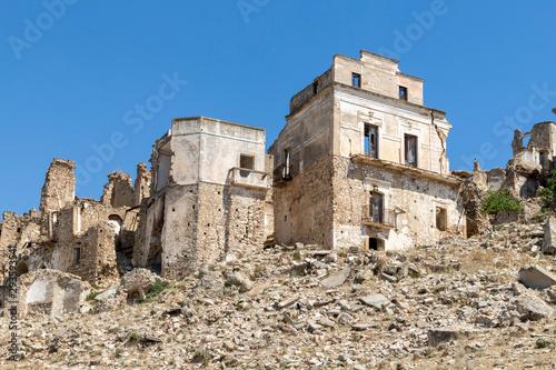 Il borgo abbandonato di Craco vicino matera in Basilicata Wallpaper Mural