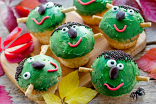 Frankenstein Cupcakes - Funny Treat For Kids For Halloween Party