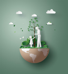 paper cut art of eco and environment