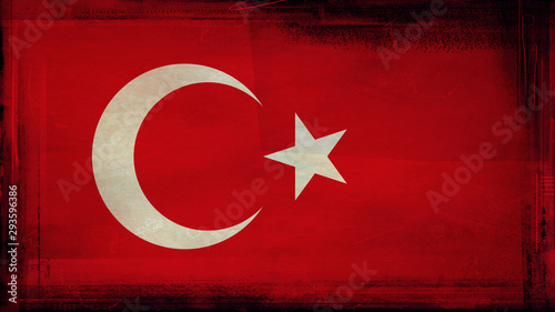 Canvas Prints Equestrian Flag of Turkey