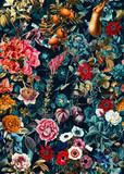 Wzór w kwiaty. Szalik z jedwabiu, modna tkanina. Tło dla projektowania i dekoracji tekstyliów. sztuka abstrakcyjny wzór, bezszwowe kwiatki