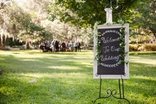 Decorated Welcome To Our Weddi...
