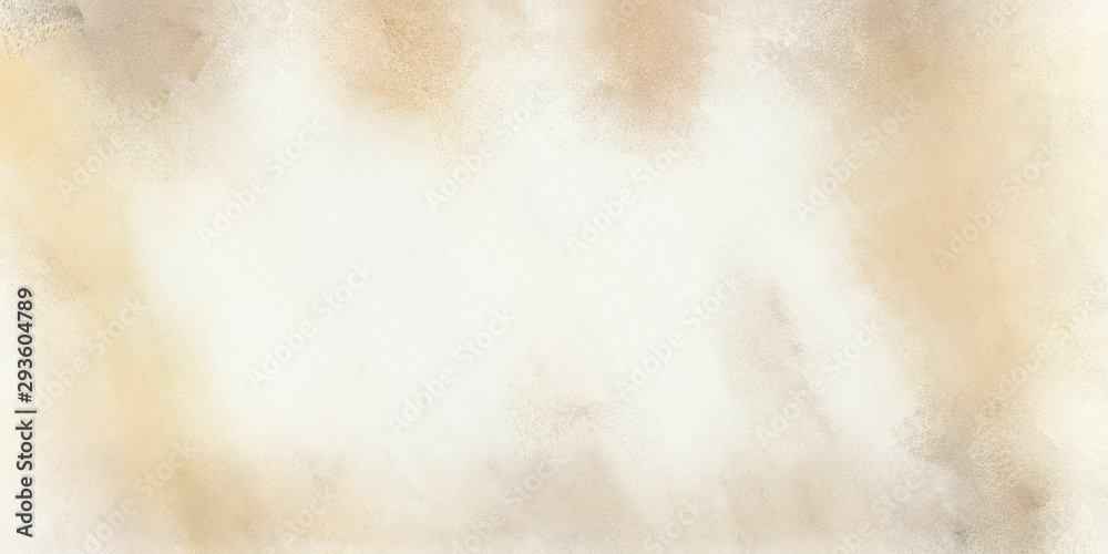 Fototapety, obrazy: abstract soft grunge texture painting with antique white, beige and wheat color and space for text. can be used for background or wallpaper