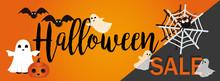 Halloween Sale Vector Banner. ...