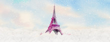 Travel Holiday Eiffel Tower Paris France With Winter.