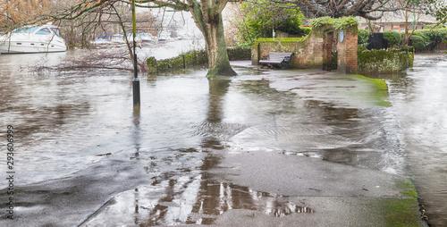 Fotomural River Avon major flood 2014