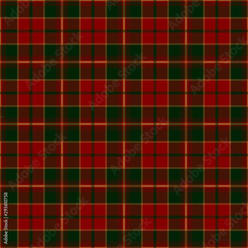 Christmas festive tartan plaid patten. Scottish textile design. Fototapet