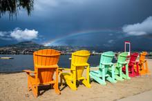Rainbow Over Rainbow Of Chairs